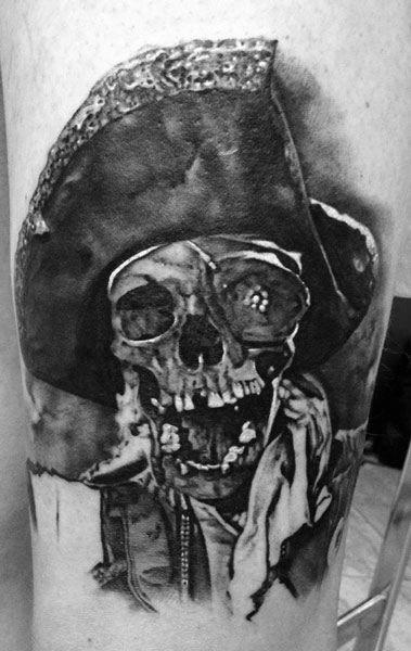 Shaded Black And Grey Goonies Tattoo Design