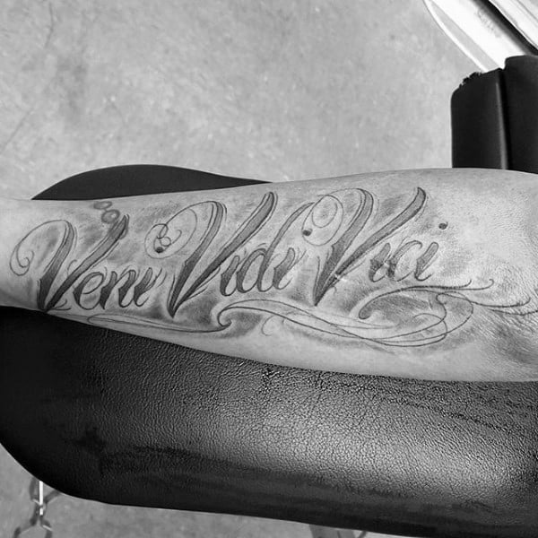 60 Veni Vidi Vici Tattoo Designs For Men