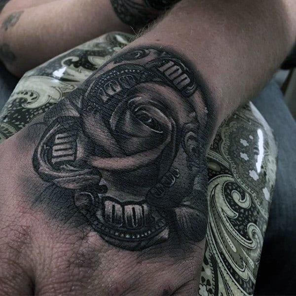 nexluxury money 14 rose hand tattoos