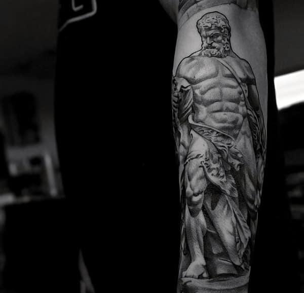 Shaded Forearm Sleeve Tattoos Male Designs