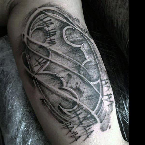 50 Batman Symbol Tattoo Designs For Men - Superhero Ink Ideas