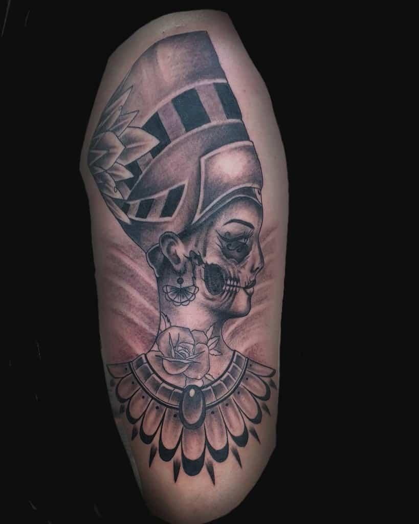 Shaded Nefertiti Tattoos D.x.v.tattoos