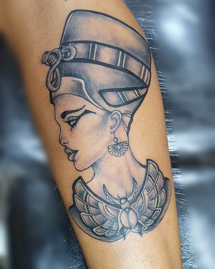 Shaded Nefertiti Tattoos Gerson Art Tattoo