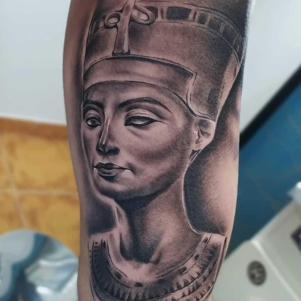Shaded Nefertiti Tattoos Juan Adrianmarquez