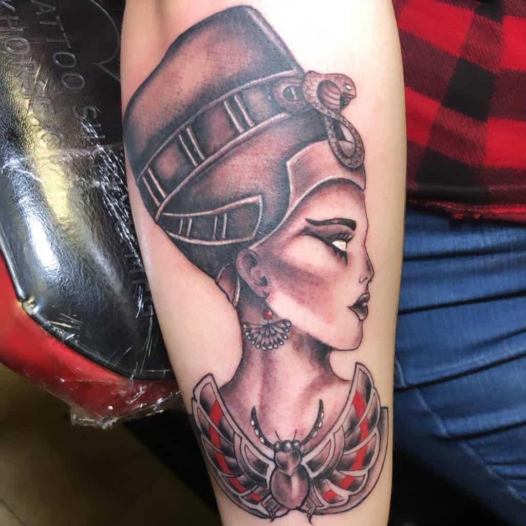 Shaded Nefertiti Tattoos Tattoosbydaye