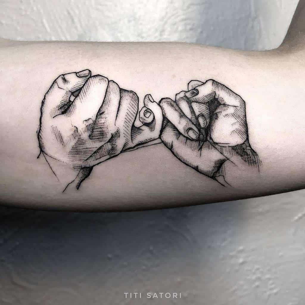 Shaded Pinky Promise Tattoos Titisatori Tattoo