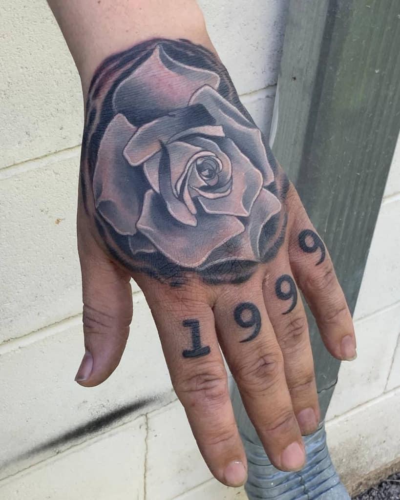 shaded rose hand tattoos swineflubooboo_blakefisher