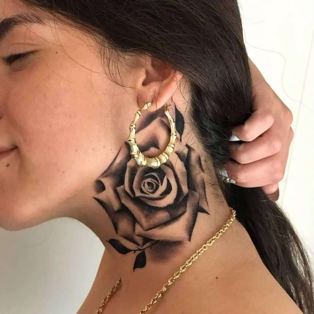 shaded rose neck tattoos mg.tatts