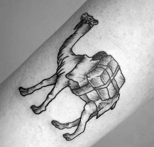 Shaded Small Traditional Guys Small Forearm Tattoo Ideas