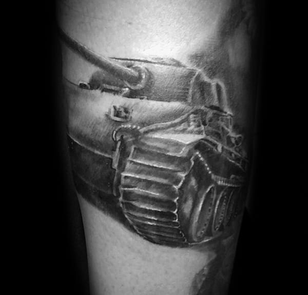 Shaded Tank Guys Ww2 Tattoo Design Inspiration