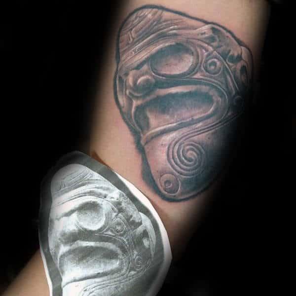 Shaman Taino Mens Inner Forearm Tattoos Realistic Design