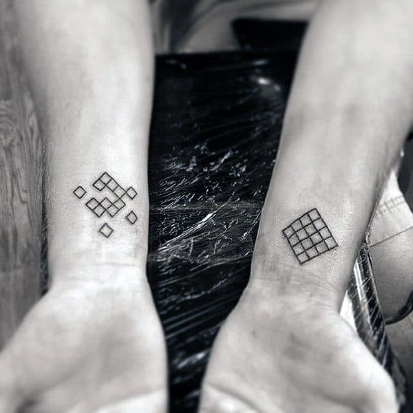 Shapes Men's Wrist Tattoos