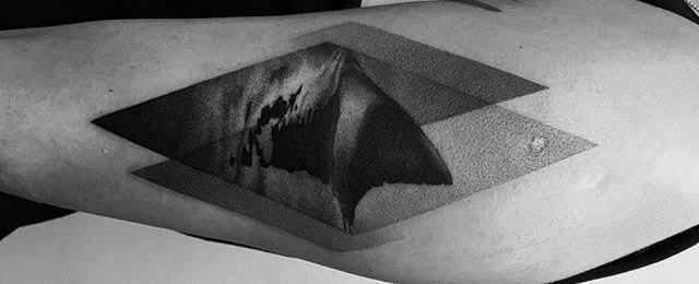 Shark Fin Tattoo Designs For Men