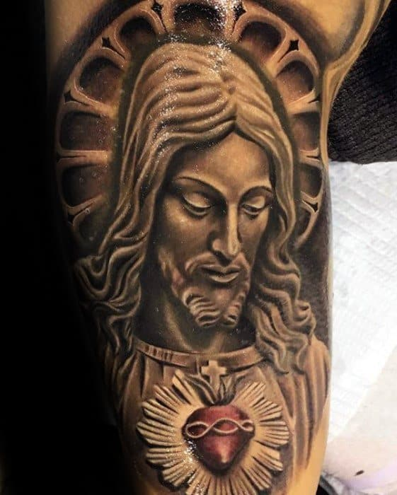 Sharp 3d Jesus Male Tattoo Ideas