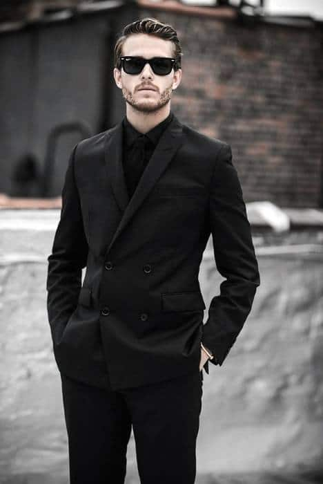 Sharp All Black Outfits Mens