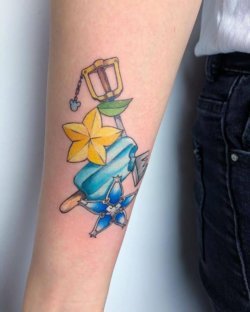 Sharp Amethyst Kingdom Hearts Tattoo
