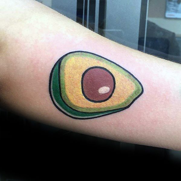 Sharp Avocado Male Tattoo Ideas