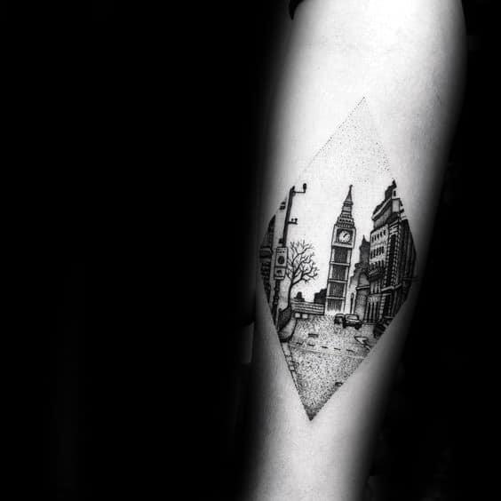 Sharp Big Ben Male Tattoo Ideas