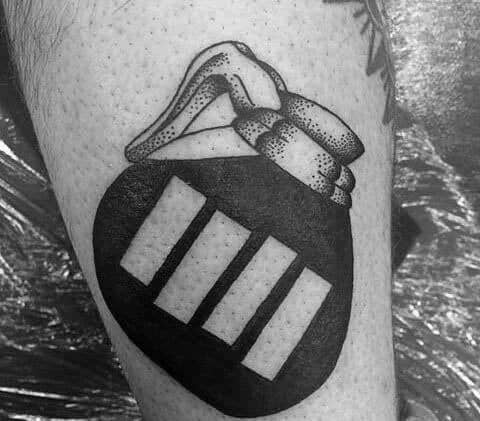Sharp Black Flag Coffee Pot With Negative Space Design Male Tattoo Ideas