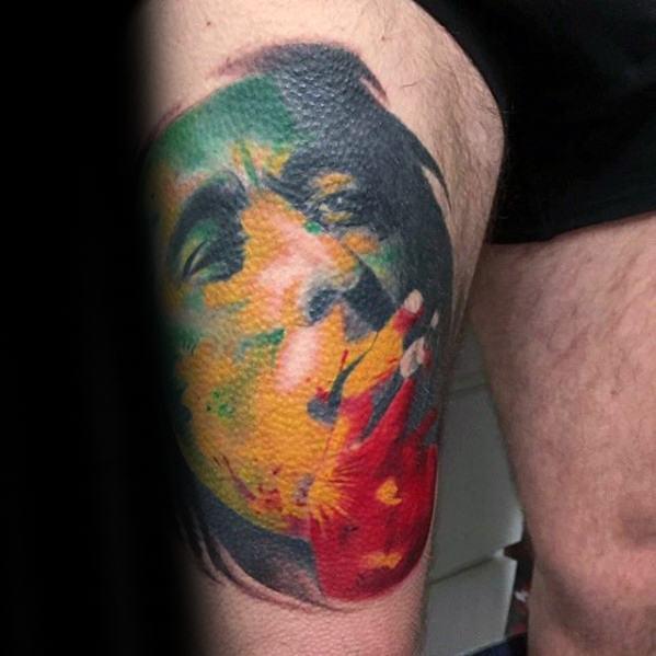 Sharp Bob Marley Male Tattoo Ideas