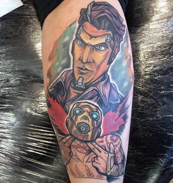 Sharp Borderlands Male Tattoo Ideas