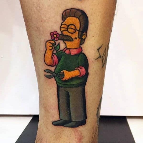 Sharp Cartoon Male Tattoo Ideas