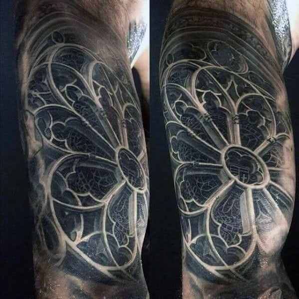 Sharp Cathedral Male Tattoo Ideas