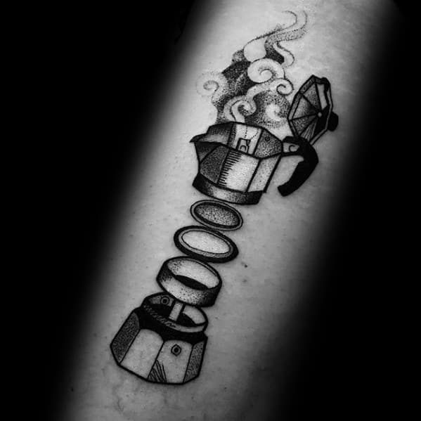 Sharp Coffee Male Tattoo Ideas