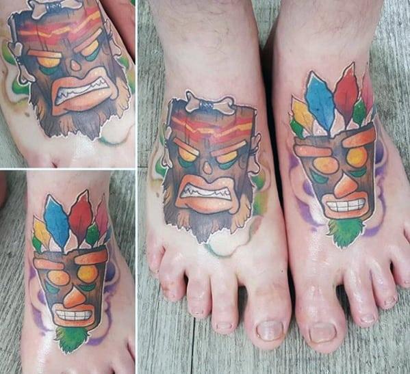 Sharp Crash Bandicoot Male Tattoo Ideas