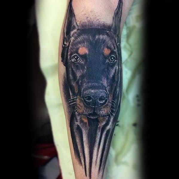 Sharp Doberman Male Tattoo Ideas