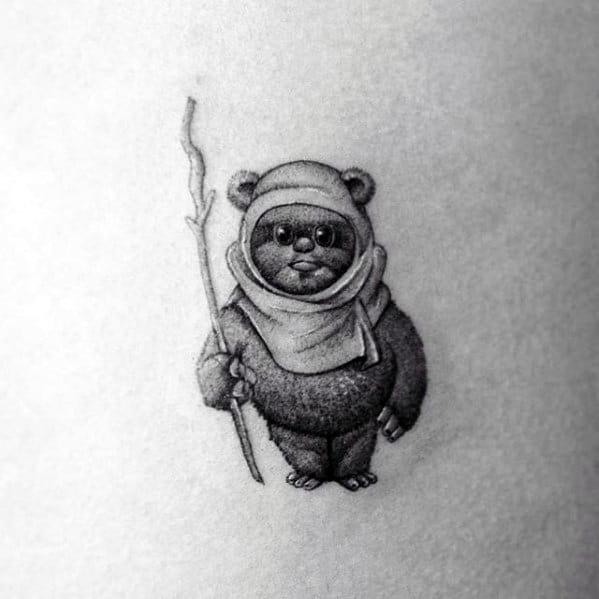Sharp Ewok Male Tattoo Ideas