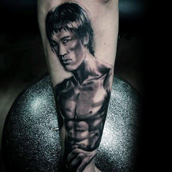 Sharp Forearm Bruce Lee Male Tattoo Ideas