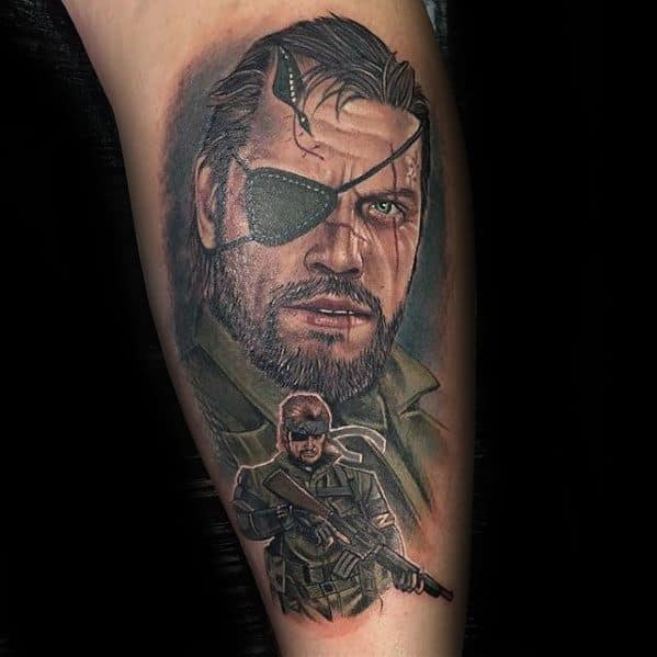 Sharp Gamer Leg Male Tattoo Ideas