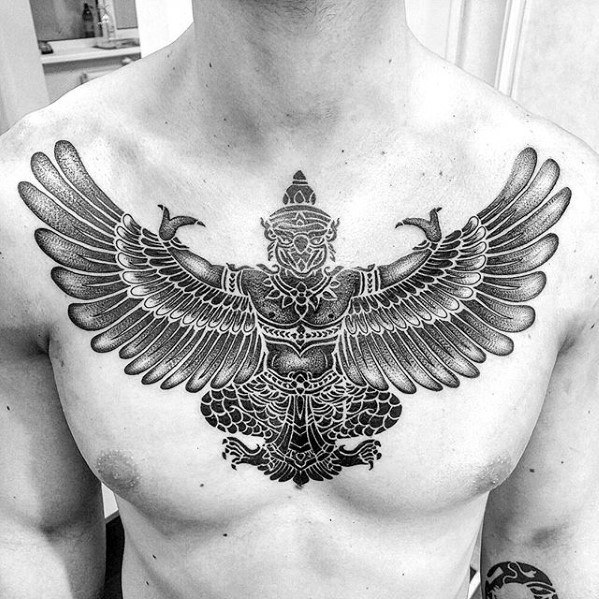 Sharp Garuda Male Tattoo Ideas
