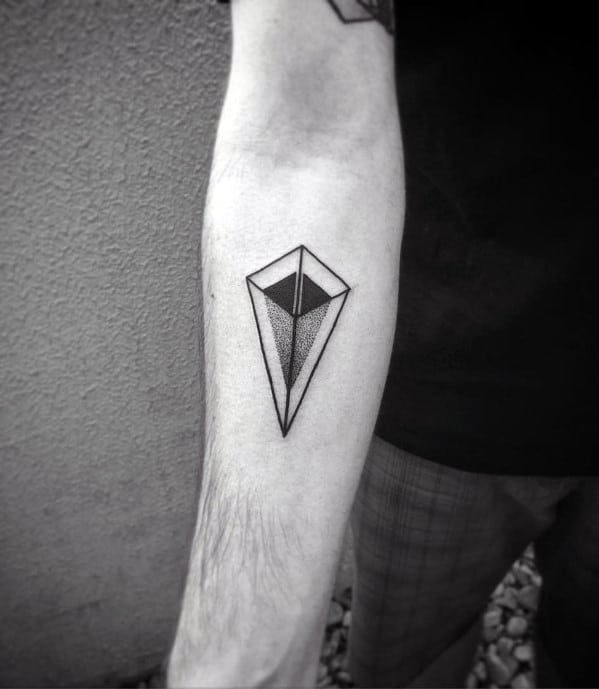 Sharp Geometric Arrow Male Tattoo Ideas