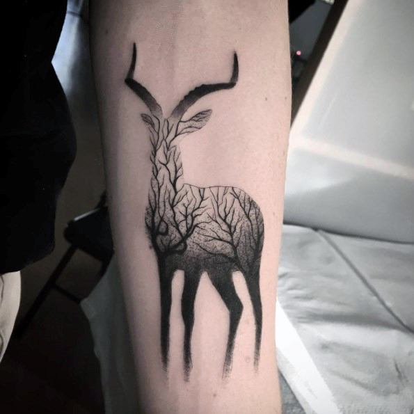 Sharp Gradient Male Tattoo Ideas