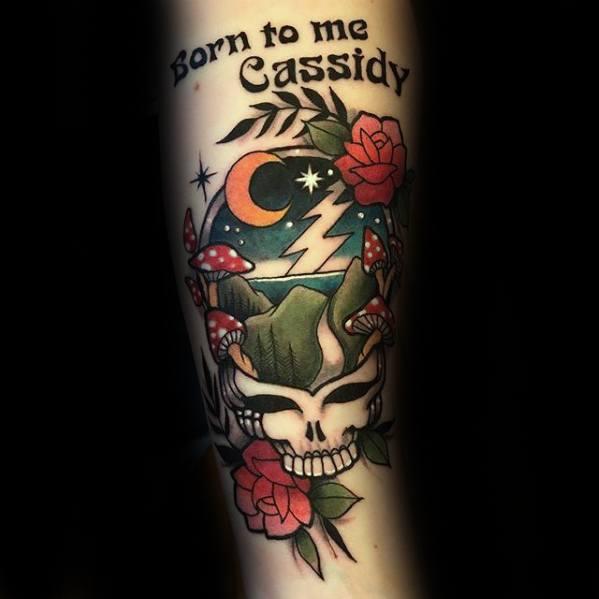 Sharp Grateful Dead Male Tattoo Ideas