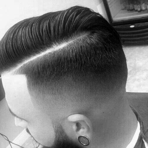 Sharp Haircut Comb Over Fade Taper For Males