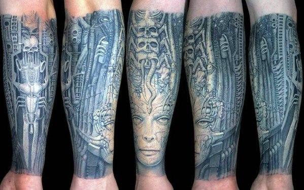 Sharp Hr Giger Male Tattoo Ideas