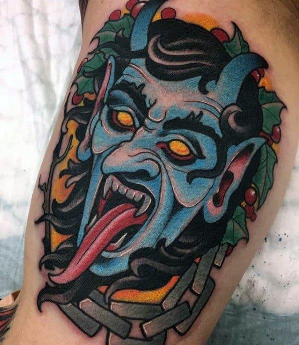 Sharp Krampus Male Tattoo Ideas