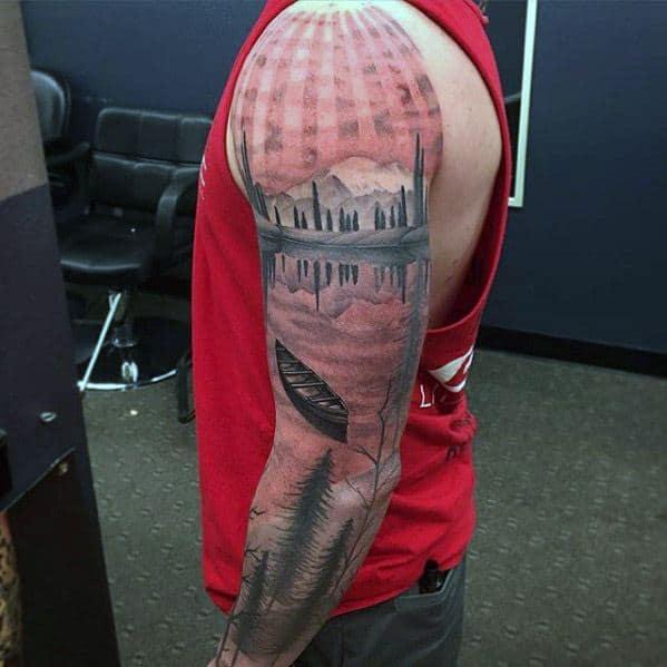 Sharp Lake Male Tattoo Ideas