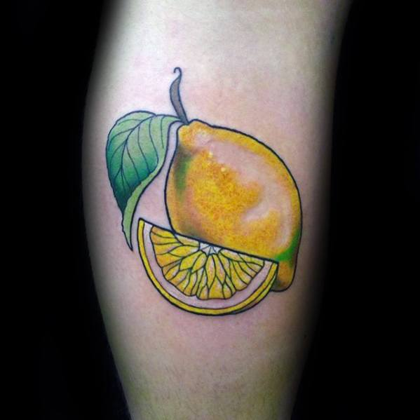 Sharp Lemon Male Tattoo Ideas