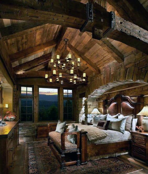 Cozy Luxury Homes Interior Gallery: Top 60 Best Log Cabin Interior Design Ideas