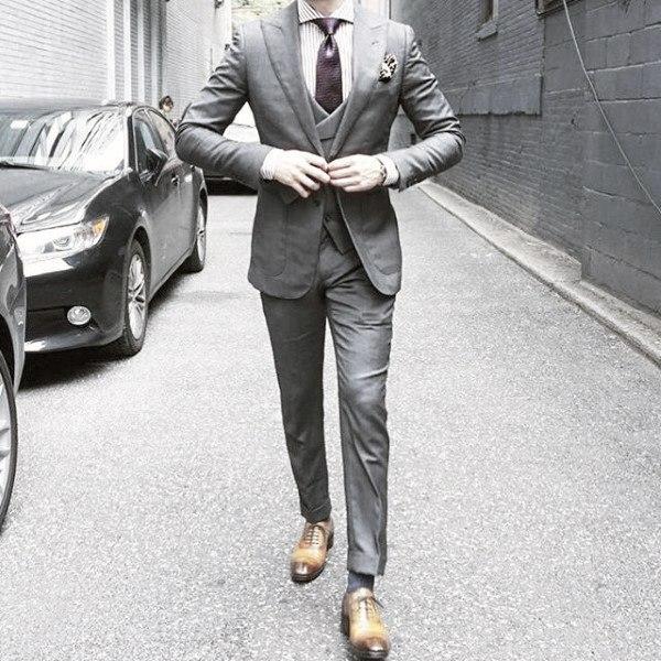 Sharp Mens Grey Suit Styles