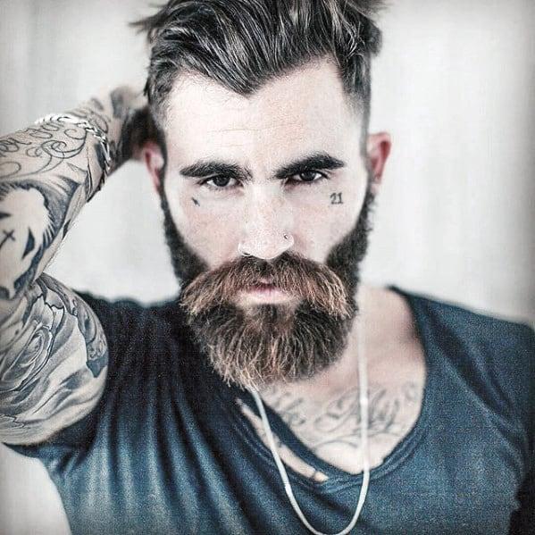 Strange 60 Manly Beards For Men Striking Facial Hair Styles Short Hairstyles Gunalazisus