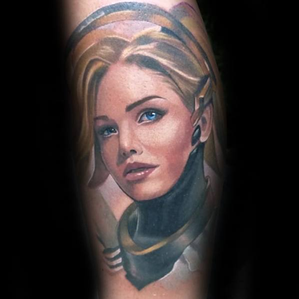 Sharp Overwatch Male Tattoo Ideas