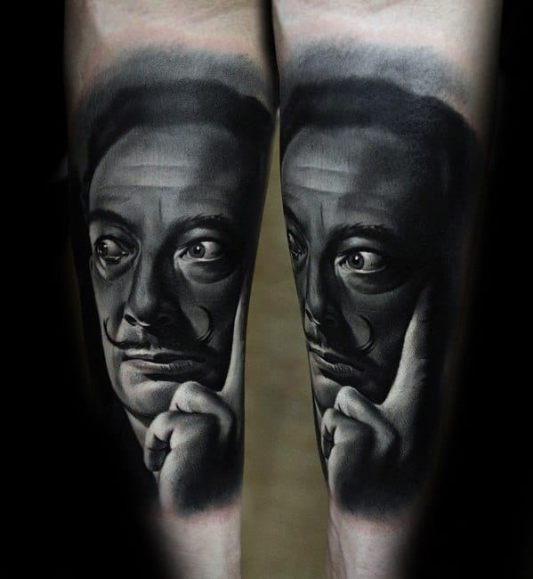 Sharp Salvador Dali Male Tattoo Ideas