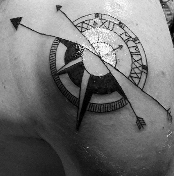Sharp Small Arrow Male Tattoo Ideas On Shoulder