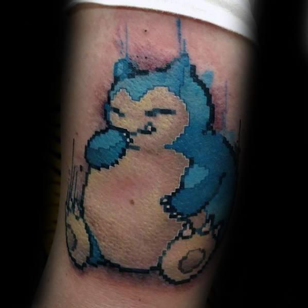 Sharp Snorlax Male Tattoo Ideas