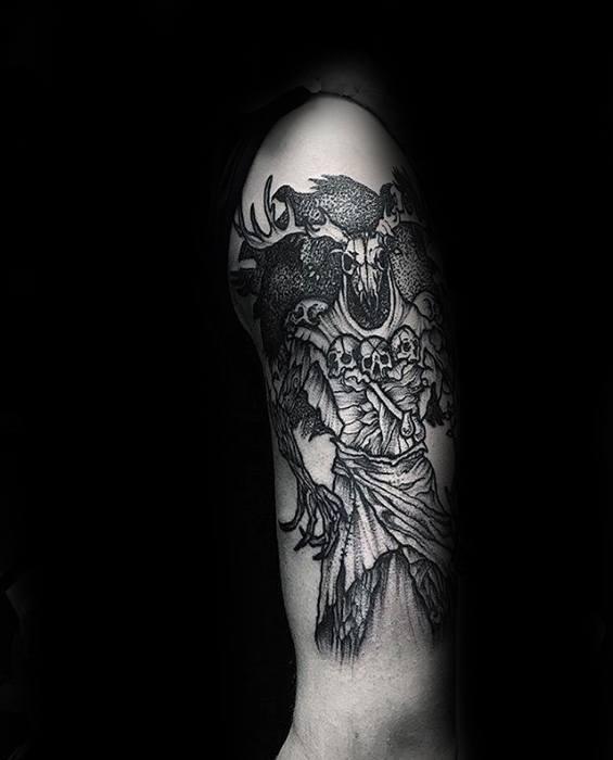 Sharp Witcher Male Tattoo Ideas